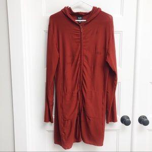 Eileen Fisher Hooded Zip Tunic